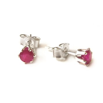 How to make these silver Ruby earrings