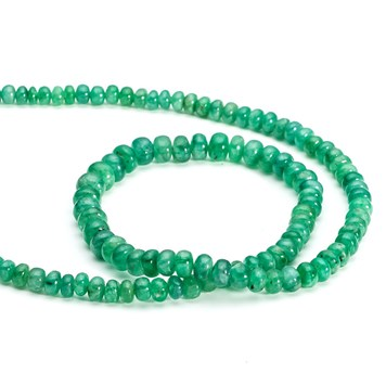 Emerald Rondelle Beads From Kernowcraft