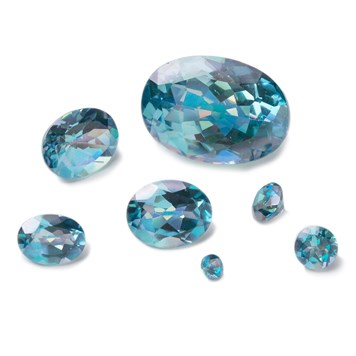 aqua iridescent topaz faceted stones