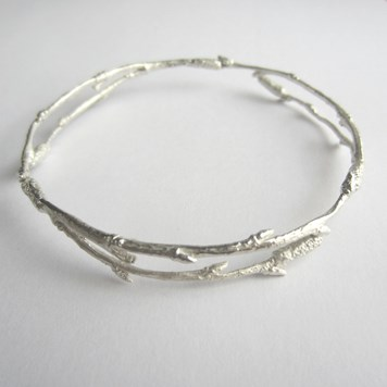 Charlotte Bezzant Silver Twig Bangle