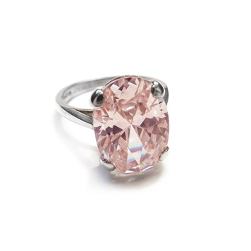 Sterling Silver ring setting for faceted gemstones