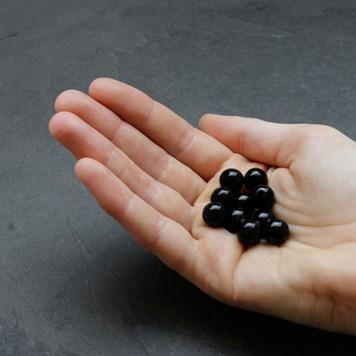 Black Agate 10mm Round Large Hole Beads
