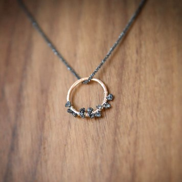Comet Catcher Necklace By When Catie Met Soda using Black Diamond Nugget Beads From Kernowcraft