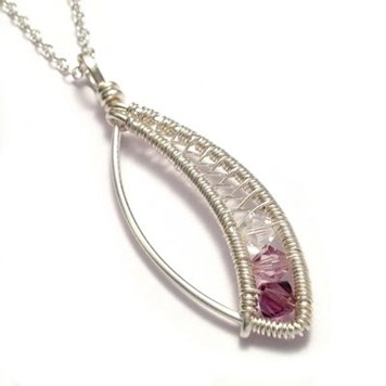 marquise wire weave pendant by Kian Designs