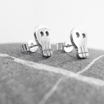 Collection 47 - Sterling Silver Skull Studs