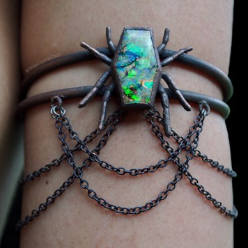 Monarch Opal Coffin Armband from shop Crystal Child