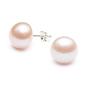CULTURED FRESHWATER BLUSH PEARL STUD EARRINGS