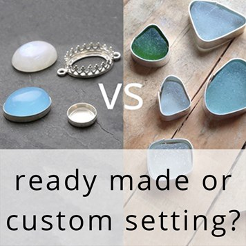 Making your own Gemstones Settings Compared To Read made stone settings