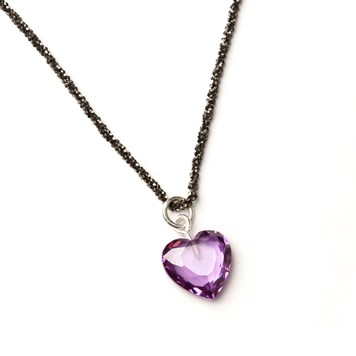heart and diamond necklace tutorial