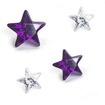 star faceted gemstones