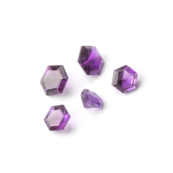 african amethyst hexagon faceted stone
