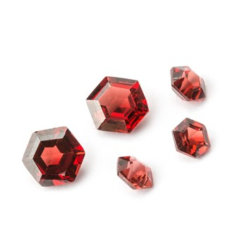 mozambique garnet hexagon faceted stones