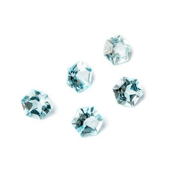 Sky Blue Topaz Hexagon Faceted Stones