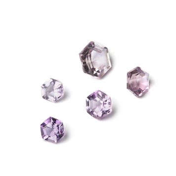 Brazilian Amethyst hexagon Faceted Stones