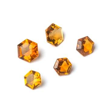 Citrine Hexagon Faceted Stones