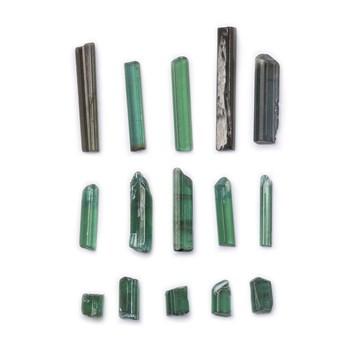 Rough Green Tourmaline Natural Crystals