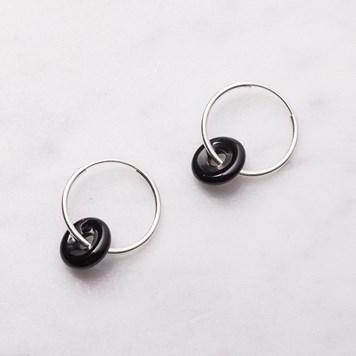 black onyx donut hoops