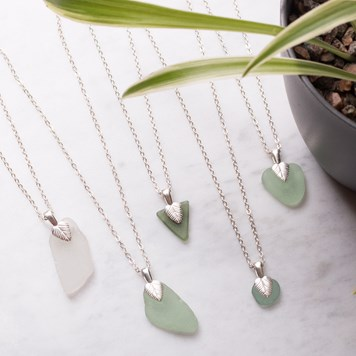 sea glass necklace kit