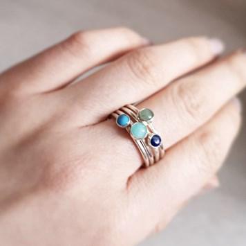 stacking gemstone ring