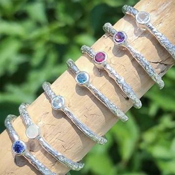 stacking gemstone rings