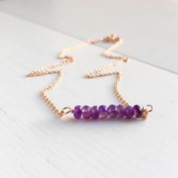 handmade amethyst jewellery