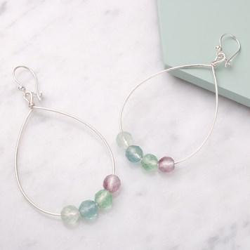 how to make beaded hoop earrings