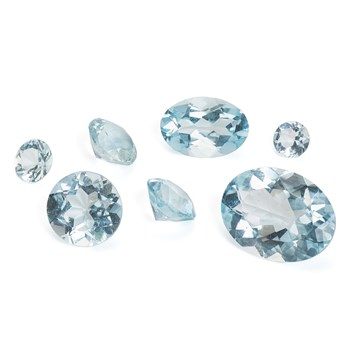 aquamarine faceted stones