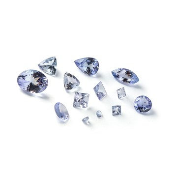 tanzanite faceted stones