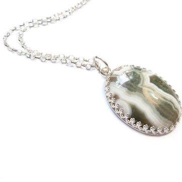 Ocean jasper pendant