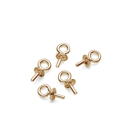 9ct Gold Peg with Loop and 2.5mm Cap