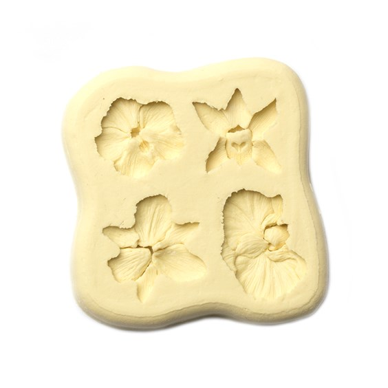Mini Orchids Metal Clay Mould