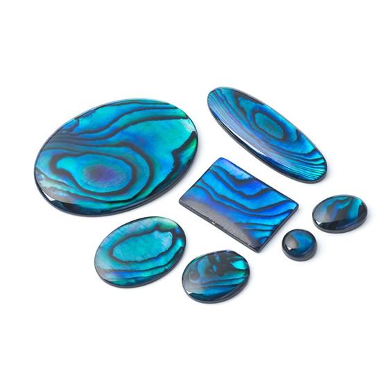 Blue Paua Shell Cabochons