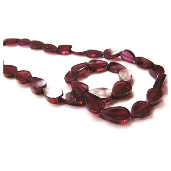 Garnet Teardrop Beads, Approx 7x5mm