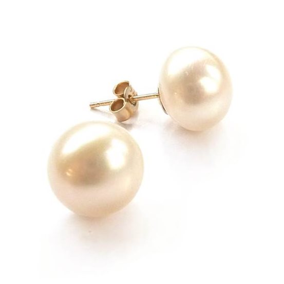 Cultured Freshwater Pearl 9ct Gold Stud Earrings