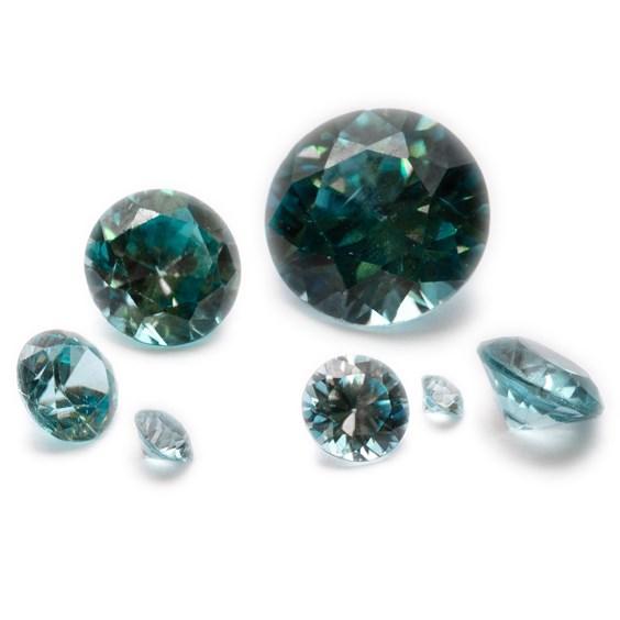 Blue Zircon Faceted Stones