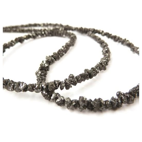 Black Diamond Natural Rough Nugget Beads