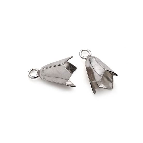Sterling Silver Medium Plain Bell Caps