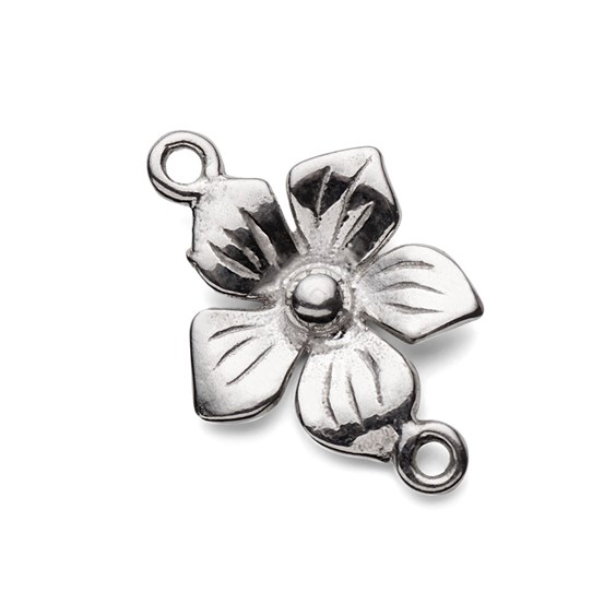 Sterling Silver Flower Connector Link