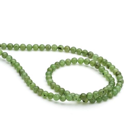 Nephrite Jade Round Beads, 4mm