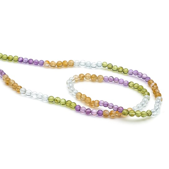 Multicolour Round Beads, 4mm