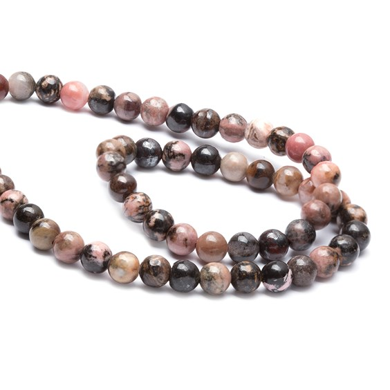 Rhodonite Round Beads, 6mm