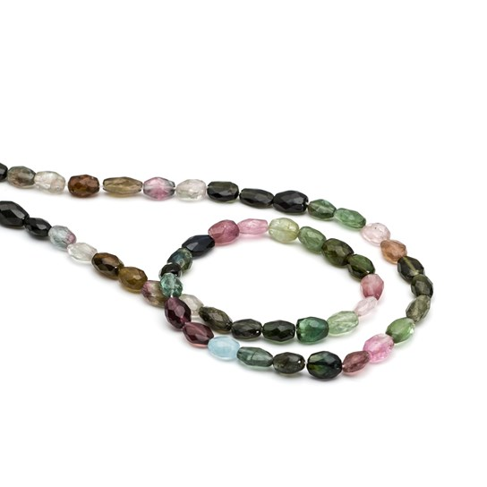 Tourmaline Faceted Oval Beads