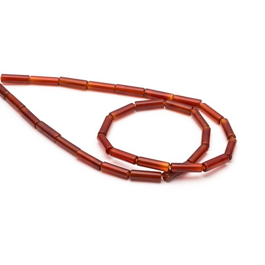Carnelian Cylinder Beads