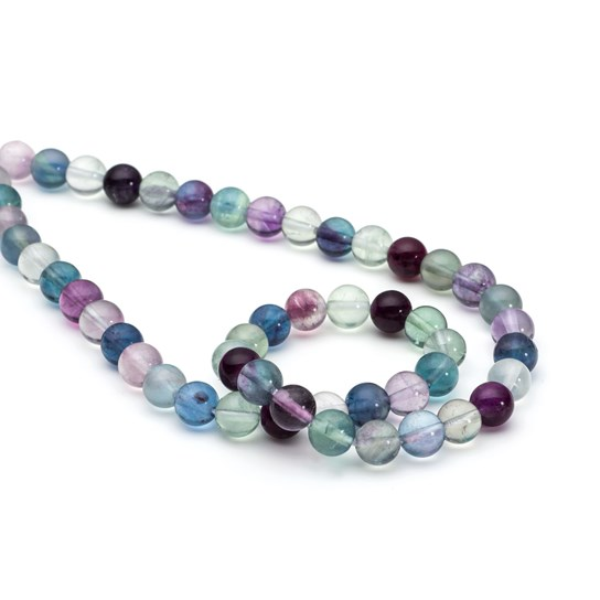Rainbow Fluorite Round Beads