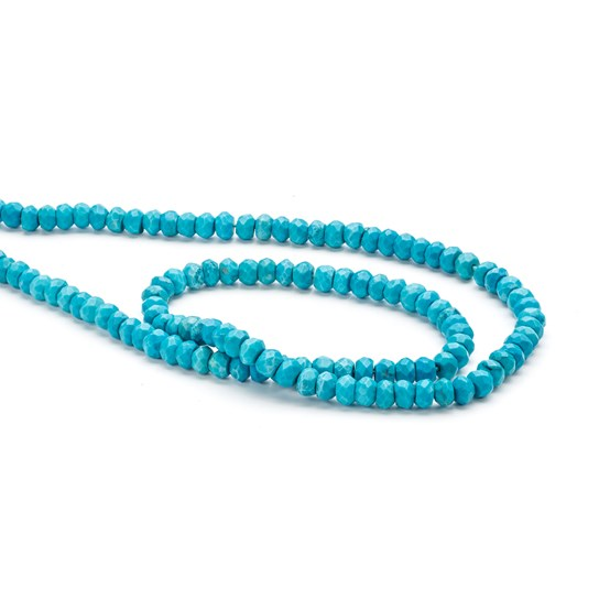 Turquoise Faceted Rondelle Beads, Approx 3x2mm-4x3mm