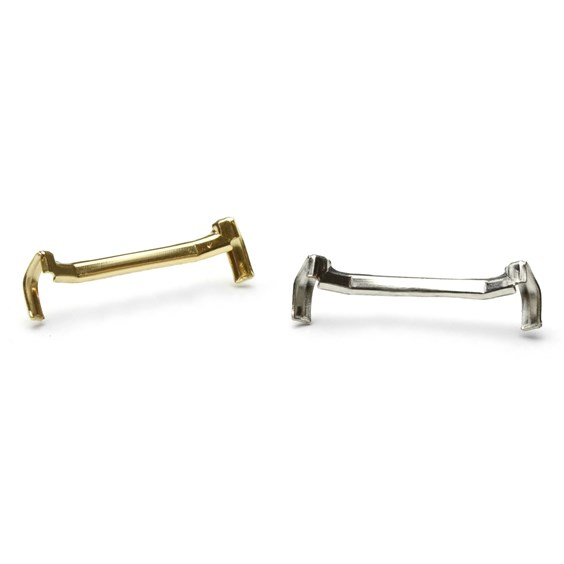 White and Yellow Gold Filled Ring Size Adjusters