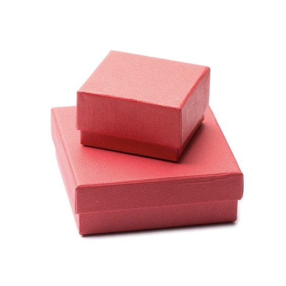 Red Linen Cardboard Presentation Boxes