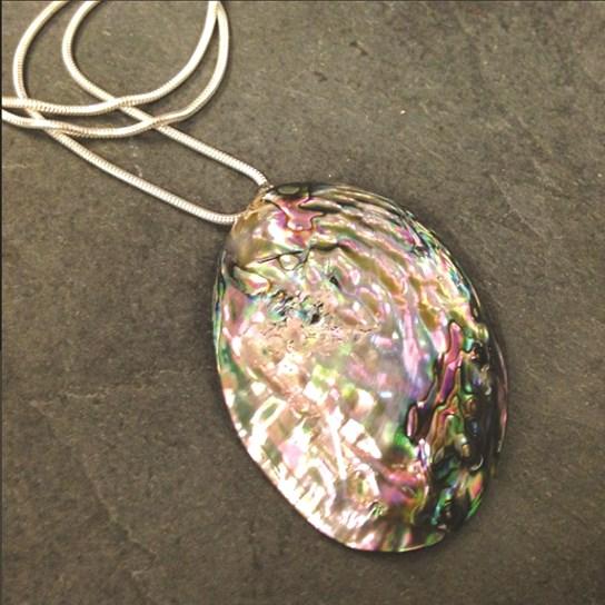 Paua Shell Oval Pendant