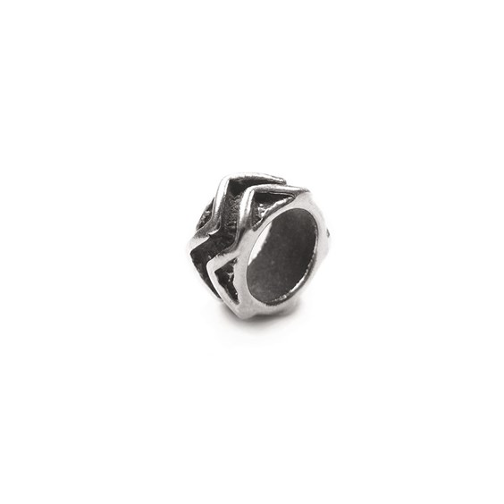 Sterling Silver Zig Zag Charm Beads