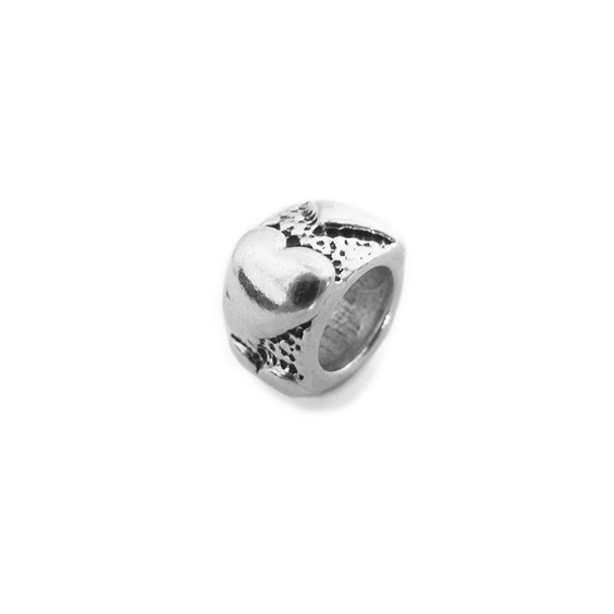 Sterling Silver Heart Charm Beads